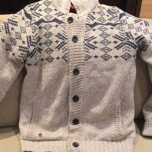 Triple Five Soul wool sweater with quilted interior